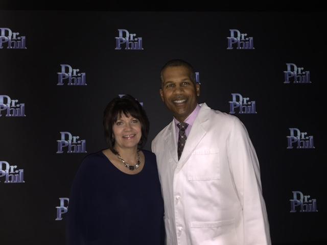 Dr. Kevin Smith, Houston migraine specialist, and Kim, Houston migraine treatment patient.